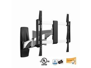 """Mount-it! Curved TV Wall Mount MI-9464X, Heavy-Duty, Ultra-Slim, Stylish, Full-Motion Curved and Flat Panel TV Mount for 37"""" to 70-Inch LED, LCD TV Wall Mount that can hold up to 99 pounds."""