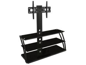 Mount-It! MI-864 32-60-Inch Flat Panel TV Mount and Glass Entertainment Center Combo (3 Shelves)