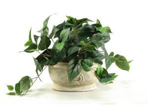 D&W Silks Philo Ivy In Oblong Ceramic Planter