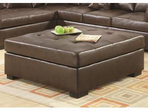Darie Brown Leather Ottoman  by Coaster