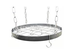 Rogar 8001 Round Rack - Hammered Steel/Chrome