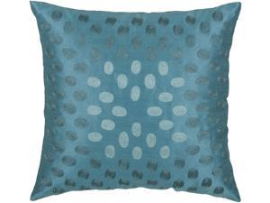 Rizzy Home Pillow Cover With Hidden Zipper In Peacock Blue And Aqua [Set of 2]