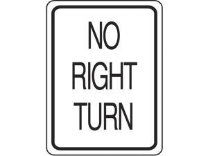 Eagle One No Right Turn Sign