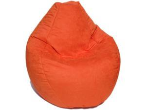Bean Bag Boys Fabric Bean Bag Chair in Pumpkin