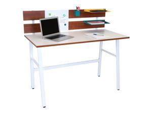 Lumisource Bench Desk In Brown And White
