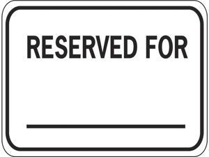 Eagle One Reserved For Sign