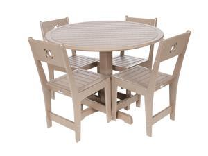 Eagle One 5 Piece Cafe Dining Set In Driftwood