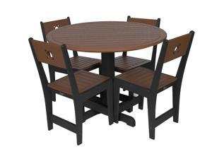 Eagle One 5 Piece Cafe Dining Set In Black And Brown
