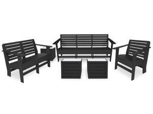 Eagle One 5 Piece Berlin Lounge Set In Black