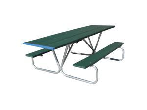 Eagle One Ada 8 Ft Greenwood Picnic Table Metal Base In Green