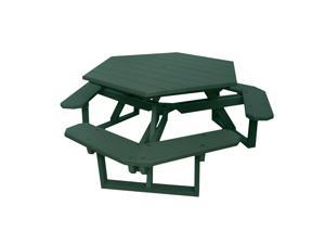 Eagle One Hexagon All Greenwood Picnic Table In Green