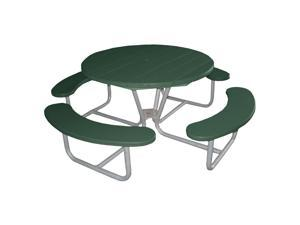 Eagle One Round Greenwood Picnic Table Metal Base In Green