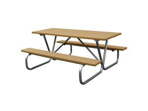 Eagle One 6 Ft Greenwood Picnic Table Metal Base In Cedar
