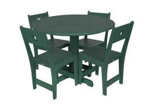 Eagle One 5 Piece Cafe Dining Set In Green