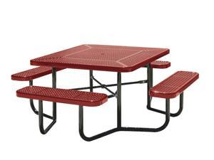 Eagle One Square Fusion Coated Metal Table With 4 Seats