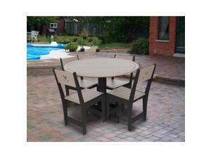 Eagle One 5 Piece Cafe Dining Set In Black And Driftwood