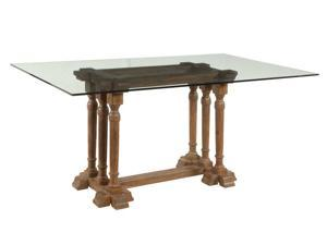 Bassett Mirror Pemberton Rectangle Glass Top Dining Table