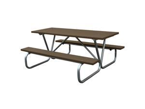Eagle One 6 Ft Greenwood Picnic Table Metal Base In Brown