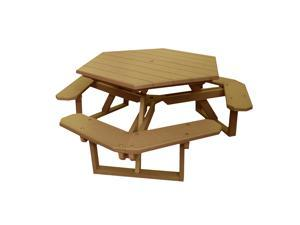 Eagle One Hexagon All Greenwood Picnic Table In Cedar
