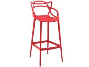 Modway Entangled Bar Stool In Red