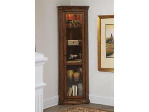 Liberty Furniture Hearthstone Corner Curio in Rustic Oak Finish
