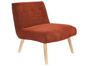 Lumisource Vintage Neo Accent Chair In Burnt Orange