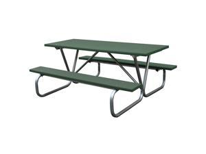 Eagle One 6 Ft Greenwood Picnic Table Metal Base In Green