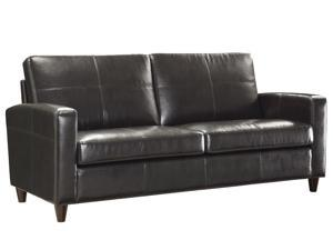 OSP Furniture Lounge Seating SL2813-EC1 Espresso Eco Leather Sofa w/ Espresso Finish Legs