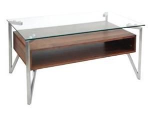 Lumisource Hover Coffee Table In Walnut