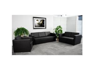 Flash Furniture Hercules Trinity Series Reception Set - ZB-TRINITY-8094-SET-BK-GG