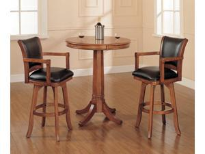 Hillsdale Park View 3 Piece Pub Table Set w/ Traditional Stools