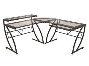 """Z Line Feliz Glass """"L"""" Desk"""