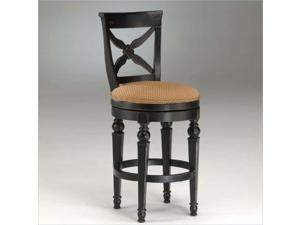 Hillsdale Northern Heights Swivel Counter Stool in Black & Honey