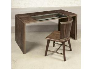 Hammary Flashback Parson Desk in Rusty Red-Brown