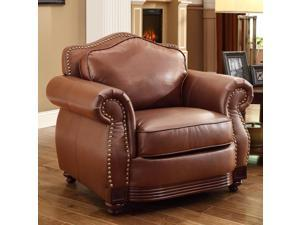 Midwood Accent Chair in Dark Brown Bonded Leather By Homelegance