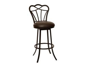 Armen Living Galvin Transitional Barstool In Coffee and Auburn Bay Metal