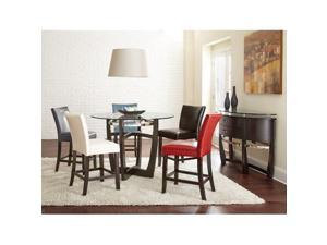Steve Silver Matinee Bonded Leather Counter Chairs In White [Set of 2]
