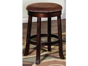 Sunny Designs Santa Fe Swivel Barstool with Back In Dark Chocolate - 30 Inch [Se