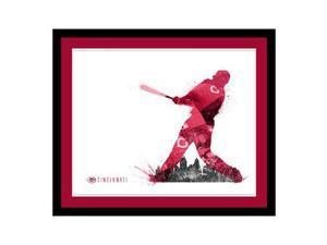 Replay Photos Cincinnati Reds Framed Cincinnati Reds Silhouette Art - 21.5 x 25.