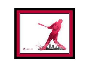 Replay Photos Cleveland Indians Framed Cleveland Indians Silhouette Art - 16 x 1