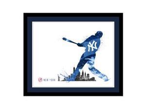 Replay Photos New York Yankees Framed New York Yankees Silhouette Art - 21.5 x 2