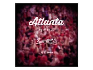 Replay Photos Atlanta Braves Gallery Wrapped Canvas of Atlanta Braves Blur Art