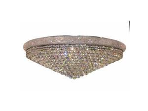 Lighting By Pecaso Adele Collection Flush Mount D42in H14.5in Lt:30 Chrome Finis