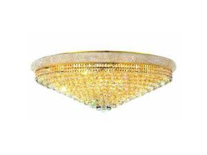 Lighting By Pecaso Adele Collection Flush Mount D42in H14.5in Lt:30 Gold Finish