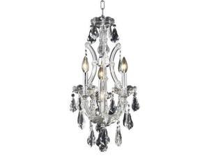 Lighting By Pecaso Karla Collection Hanging Fixture D12in H22in Lt:3+1 Chrome Fi