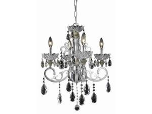 Lighting By Pecaso Kerman Collection Hanging Fixture D20in H24in Lt:4 Chrome Fin