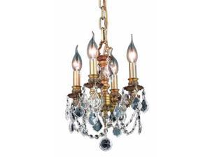 Lighting By Pecaso Tempeste Collection Hanging Fixture D10in H10in Lt:4 French G