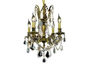 Lighting By Pecaso Reynard Collection Hanging Fixture D17in H21in Lt:4 Antique B