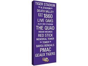 Replay Photos Gallery Wrapped Canvas of LSU Color Subway Art