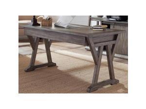 Liberty Furniture Stone Brook Laptop Desk in Rustic Saddle